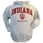 "Indiana ""Peerless"" Oxford Grey Sueded Hooded Sweatshhirt from Ouray"