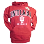 "Indiana ""Peerless"" Crimson Team Color Sueded Hooded Sweatshhirt from Ouray"