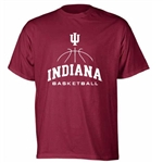 "Crimson ""COURT"" Indiana University Basketball Short Sleeve T-Shirt from Hoosier Team Store Exclusively"