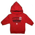 "ADIDAS Crimson Infant Hooded ""Property Of"" Hoosiers Football Sweatshirt"