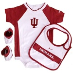 NIKE Newborn Infant Crimson Indiana Bib and Booty Set