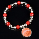 Indiana Hoosiers Basketball Bracelet with Colored Beads
