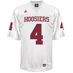 ADIDAS Authentic Replica Indiana Football #4 White Jersey