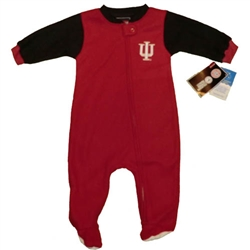 Crimson/Black Infant Indiana Hoosiers IU Footed Blanket Sleeper from Outerstuff