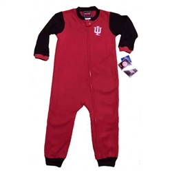 Crimson/Black Toddler Indiana Hoosiers IU Blanket Sleeper Pajamas from Outerstuff