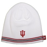 "ADIDAS White Indiana ""IU"" Triple Stripe Knit Beanie"