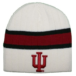"Indiana White Striped ""Stinger"" Knit Beanie from Colosseum"