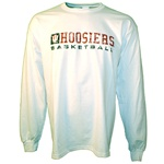 Distressed White HOOSIERS BASKETBALL Longsleeve T-Shirt