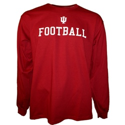 Crimson Indiana IU FOOTBALL Longsleeve T-Shirt