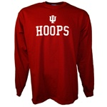 LONGSLEEVE Crimson Indiana Basketball HOOPS T-Shirt