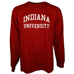 LONGSLEEVE Crimson Arched INDIANA UNIVERSITY T-Shirt