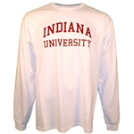 LONGSLEEVE White INDIANA UNIVERSITY T-Shirt