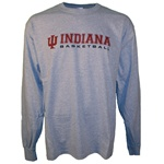 LONGSLEEVE Grey INDIANA BASKETBALL T-Shirt