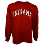 LONGSLEEVE Crimson Arched INDIANA Short Sleeve T-Shirt