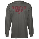 "LONGSLEEVE ADIDAS Charcoal Grey ""Registered"" PROPERTY OF INDIANA T-Shirt"