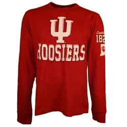 "Colosseum Longsleeve ""Pitch"" Slub Crimson Indiana IU T-Shirt"