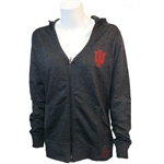IWomen's Indiana French Terry Hooded V-Neck Zip Sweatshirt from Ouray