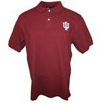 "Crimson Indiana Hoosiers ""IU"" Interlock Pique Golf Shirt"