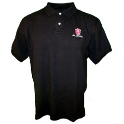 "Black Indiana Hoosiers ""IU ALUMNI"" Pique Golf Shirt"