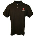 "Black Indiana Hoosiers ""IU Basketball"" Pique Golf Shirt"