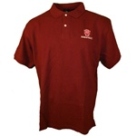 "Crimson Indiana Hoosiers ""IU Basketball"" Pique Golf Shirt"