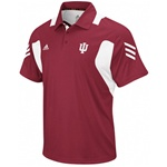 "ADIDAS ""Scorch"" Crimson Performance Indiana ""IU"" Coaches Polo"