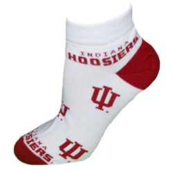 "Indiana Hoosiers ""All Over"" Ankle Socks"
