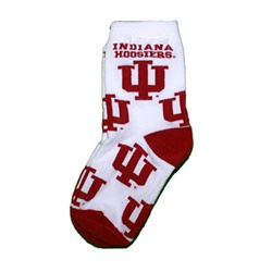 "Indiana Hoosiers Crimson and White ""All Over"" Infant, Toddler and Child's Socks"