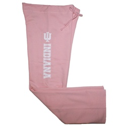 Women's Pink IU INDIANA Open Bottom Sweatpants