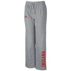 ADIDAS Women's Stretch Fit Grey Fleece INDIANA Sweatpants
