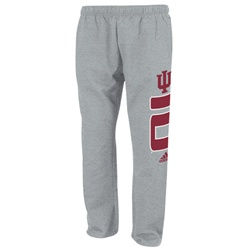 "ADIDAS Grey ""Vertical Sense"" IU INDIANA Fleece Sweatpants"