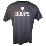 Graphite Grey Indiana Basketball HOOPS T-Shirt