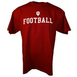 Crimson Indiana IU FOOTBALL T-Shirt