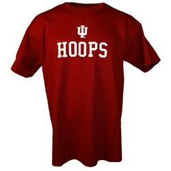 Crimson Indiana Basketball HOOPS T-Shirt