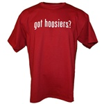 "Indiana ""got hoosiers?"" Crimson T-Shirt"