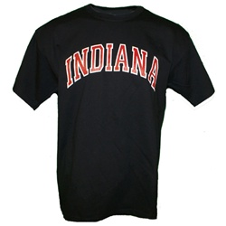 Black Arched INDIANA Short Sleeve T-Shirt