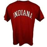 Crimson Arched INDIANA Short Sleeve T-Shirt