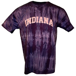 Purple Bamboo Indiana Arch Pink Tie Dye T-Shirt