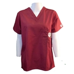 Crimson Indiana Hoosiers Scrub Top by Gelscrubs