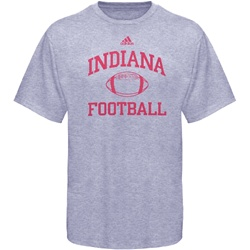 ADIDAS Grey INDIANA FOOTBALL Practice T-Shirt