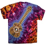 "Indiana Basketball ""IU Rocks"" Guitar Tie Dye T-Shirt"