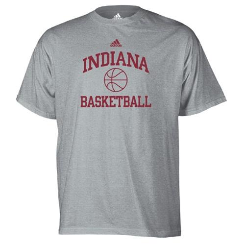 Adidas grey indiana basketball workout t shirt for Indiana basketball t shirt