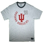 "Heather Grey ""Rooster"" Indiana Hoosiers Ringer Style T-Shirt"