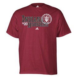 "ADIDAS Indiana Hoosiers ""Sealed Over"" Crimson T-Shirt"