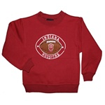 ADIDAS Toddler Indiana Football Texture Crew Neck Sweatshirt