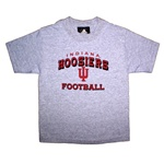 ADIDAS Grey Toddler Indiana Hoosiers Football T-Shirt