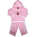 Pink Indiana Hoosiers Toddler Hoodie and Pant Set from Colosseum