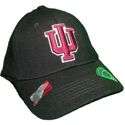 "Indiana Black Classic ""IU"" One-Fit Cap"