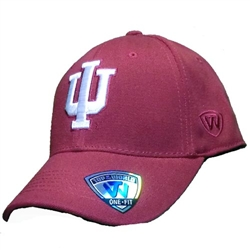 "Indiana Crimson Classic ""IU"" One-Fit Cap"