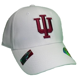 "Indiana White Classic ""IU"" One-Fit Cap"